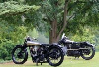 Barry Robinson's 1928/30 SS100 & right Steve Knight's 1928/27 SS100