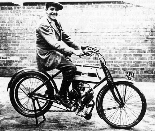 George on one of WE Brough's Machines circa 1902